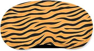 Zebra Print Orange - Sleeping Mask - Sleeping Mask