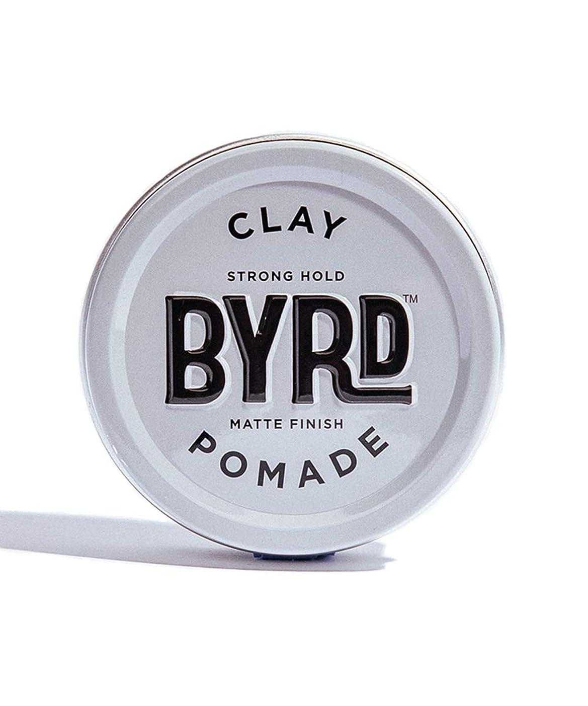 考案する充電委員長BYRD/クレイポマード 95g メンズコスメ ワックス ヘアスタイリング かっこいい モテ髪