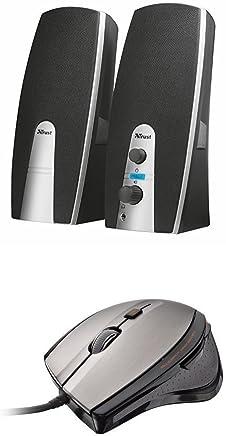 Trust Mila Set Altoparlanti 2.0, nero + MaxTrack Mouse 6 Tasti con Tecnologia BlueSpot, 1000 DPI - Trova i prezzi più bassi