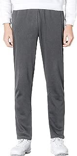 Men's Sweatpants with Pockets Open Bottom Cotton Lightweight Sweat Pants
