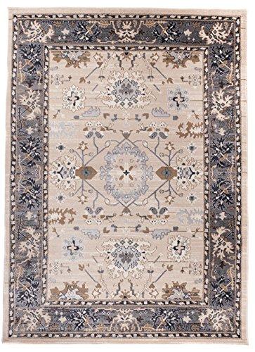 Carpeto Rugs Tapis Salon Beige Clair 300 x 400 cm Oriental/Ayla Collection