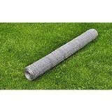 WEILANDEAL Weilandal Drahtgeflecht, sechseckig, 50 cm x 25 m, 0,75 mm Beschichtung, Material: verzinkter Stahl, PVC-Beschichtung