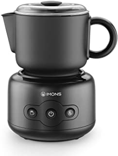 Imons Automatic Electric Milk Frother Multifunction Detachable Non-stick Coating Cup 5.28oz/10.56oz, Dishwasher Safe Cup, ...