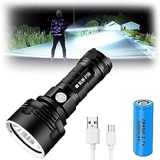 50w xlm-p70,30000-100000 lumens 3 Modes high Brightness led Flashlight, Rechargeable 100000 lumens P70 Most Powerful LED F...
