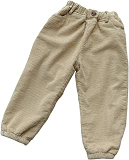 Fairy Baby Little Boy Girl Loose Elastic Casual Corduroy Pant Solid Thick Fleece