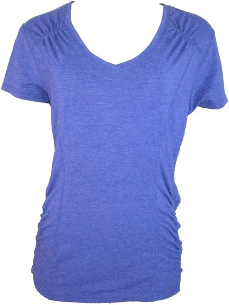 Tangerine Womens Athletic T-Shirt Top Blue Neck V Today's only Ranking integrated 1st place Iris