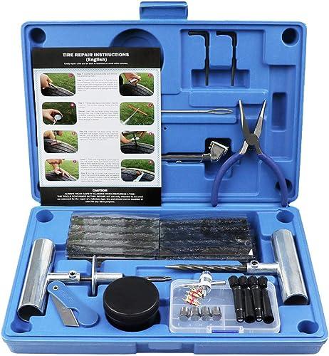 MAIKEHIGH Kit de réparation de Pneu Heavy Duty Ensemble de 67 pièces pour Moto, VTT, Jeep, Camion, Tracteur Réparatio...