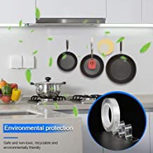 Nano Tape reutilizable, adhesivo lavable Nano Clear Cinta adhesiva lavable Cinta adhesiva sin rastros Cinta adhesiva de doble cara resistente para pared, cocina, alfombra -16,5 pies (5 m)