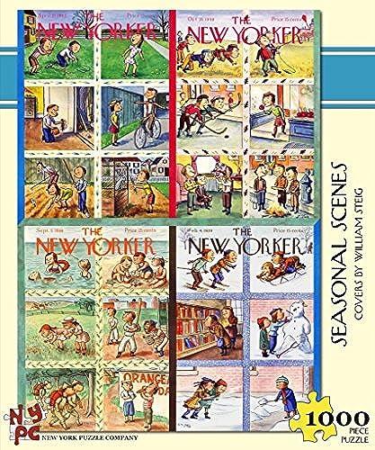 New York Puzzle Company - New Yorker Seasonal Scenes - 1000 Piece Jigsaw Puzzle