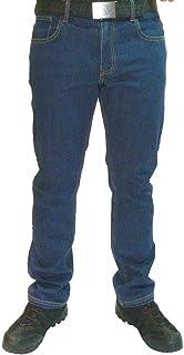 887d4e46 Mens Lee Cooper 218 Denim Blue Stretch Work Jeans Classic Fit 5 Pocket  Hardwearing Denim Trouser