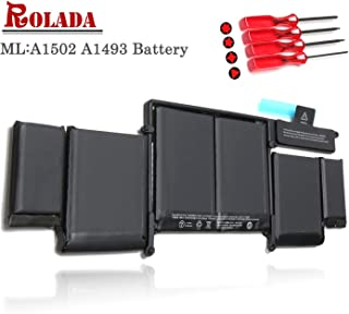 A1493 New Laptop Battery for Apple A1502 ME864LL/A ME866LL/A; MacBook Pro 13