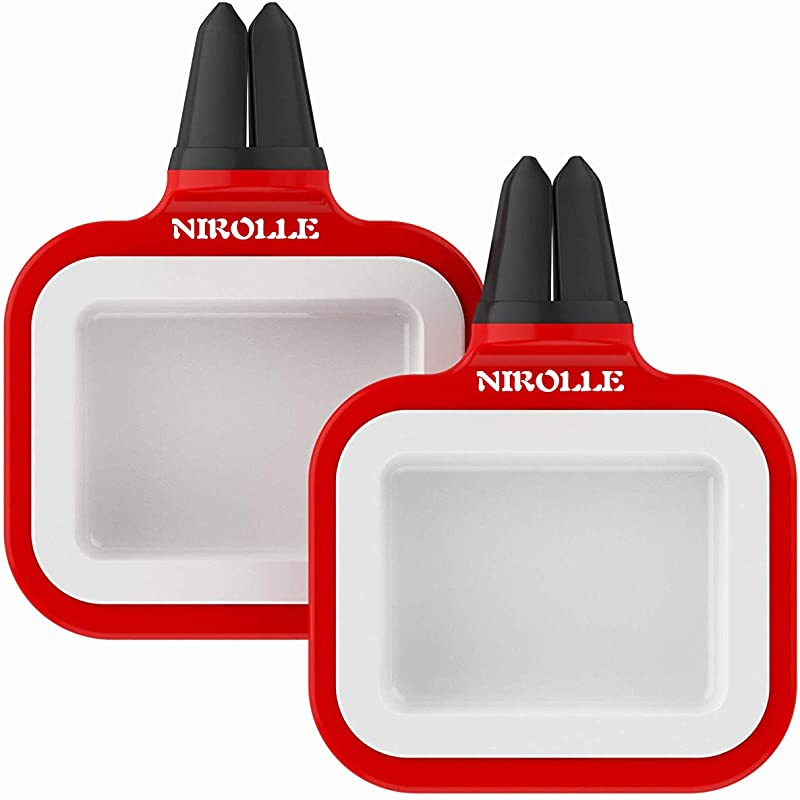 NIROLLE Dip Clip Sauce Tray Car Coaster Car Air Vent Clip Sauce Holder Dipping Cup Car Accessory For Ketchup And Dipping Sauces 2 Pack