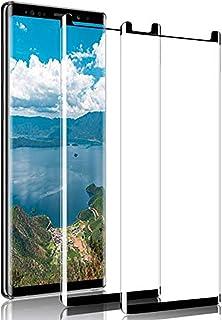 [عبوتان] واقي شاشة لجهاز سامسونج جالكسي نوت 9، واقي شاشة بتغطية كاملة بغشاء واقي مصنوع من الزجاج المقسى المقاوم للخدش فل ا...
