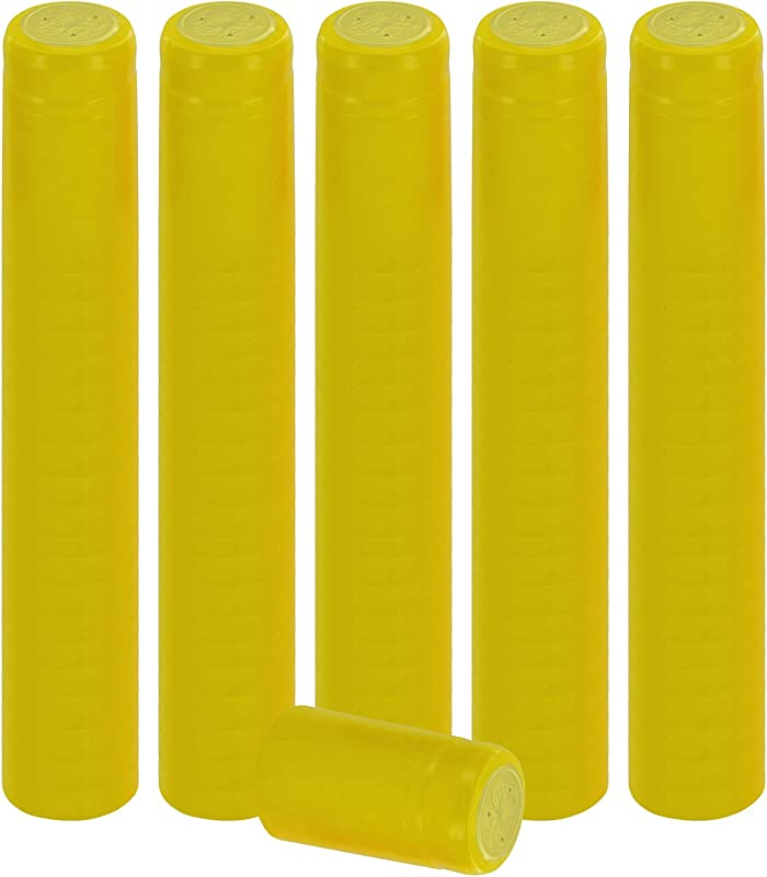 PVC Heat Shrink Capsules For Wine Bottles 100 Count Yellow