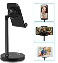 AONKEY Adjustable Cell Phone Stand, Desk Cellphone Holder Compatible with iPhone Xs Max XS XR X 6 6S 7 8 Plus, All Android Smartphone & iPad& Other 7�-13� Tablets