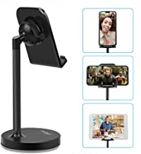 """AONKEY Adjustable Cell Phone Stand, Desk Cellphone Holder Compatible with iPhone Xs Max XS XR X 6 6S 7 8 Plus, All Android Smartphone & Nintendo Switch & iPad& Other 7""""-13"""" Tablets"""