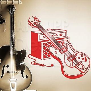YuanMinglu Décoration de Maison en Vinyle coloré Home Decor Musique équipement Decal dans la Salle familiale Rouge 58cm x ...