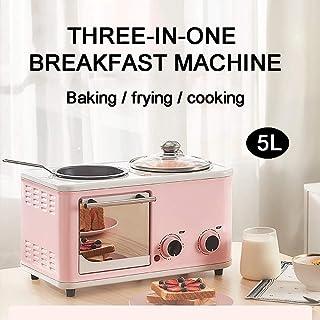 HIGHKAS Mini Horno Tres en uno 5L, máquina Desayuno pequeña multifunción, freír, hervir, Asar al Mismo Tiempo, es el Mejor ayudante en la Cocina, Azul Claro