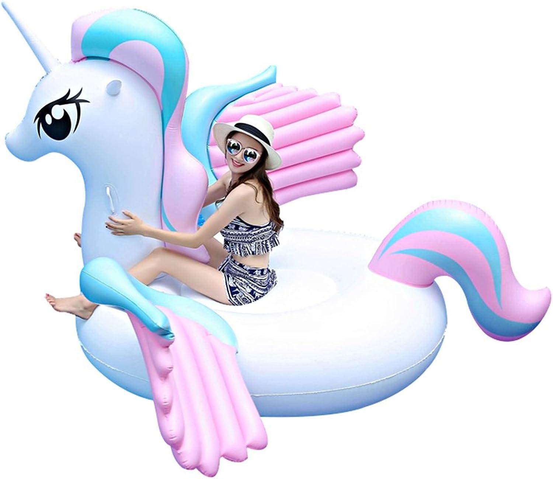 conveniente Aoeiuv Gran Unicornio Inflable, Pontón De Piscina Con Válvula Rápida, Rápida, Rápida, Gran Piscina Exterior Para Adultos Y Niños (Unicornio)  hasta un 60% de descuento