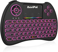AuviPal R9 2.4GHz Mini Wireless Keyboard Mouse Combo for Streaming TV Stick/Nvidia Shield/Android TV Box/PC and More - RGB Backlit Version