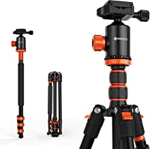 GEEKOTO 77 Inches Tripod, Camera Tripod for DSLR, Compact Aluminum Tripod with 360 Degree Ball Head 1/4