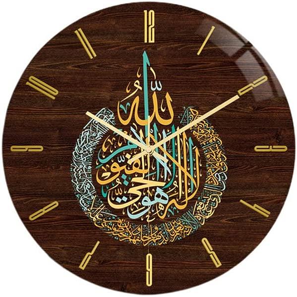 Healifty 伊斯兰挂钟祈祷时间挂钟清真寺清真寺时钟无电池
