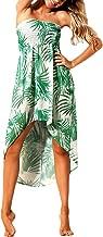 Eiffel Women's Chiffon Off Shoulder Summer Beach Swimsuit Cover ups Dress