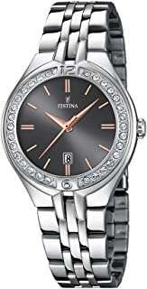 Festina Women's Black Dial Stainless Steel Band Watch - F16867-3