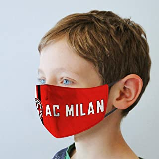 aiycome AC Milan Football Club Kids Face Balaclava with Filter Pocket, Wash-able Cloth Bandanas with Adjustable Earloops,P...