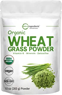 Sustainably US Grown, Organic Wheat Grass Powder, 10 Ounce (94 Serving), Rich in Immune Vitamins, Fibers, Fatty Acids and ...
