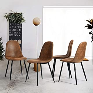 CozyCasa Dining Chairs Set of 4 Modern Style Mid Century...
