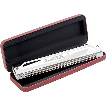 East top Harmonica trémolo professionnel en do avec 24 trous T2406S Instrument Orgue à bouche pour adultes, joueur professionnel, débutants et étudiants, comme cadeau