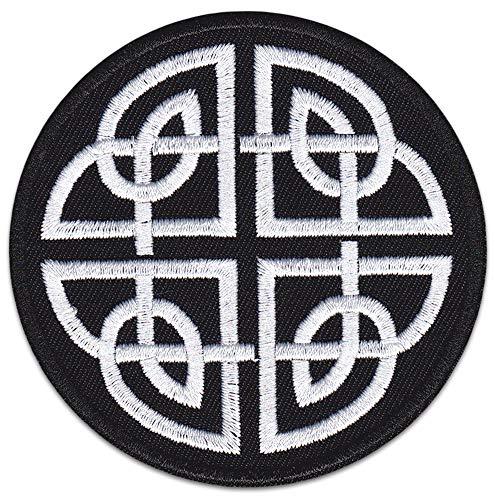 Parche cruz celta planchar símbolo protección, Negro