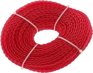 Perfk 60m Nylon Twine Grass Trimmer Cord, Plastic Cord Ø 3mm - Twist Shape