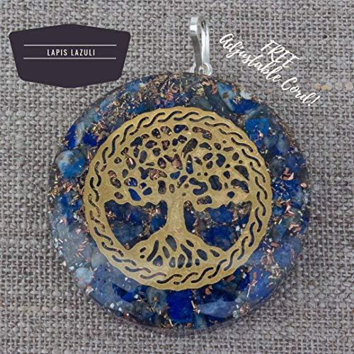 Orgonite Chakra Energy Web Tree of Life Orgone Pendant –...