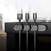 BroadRoot Baseus Peas Magnetic Cable Clip Organizer Clamp Desktop Management(Black)