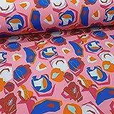 Schickliesel Softshell Stoff Meterware Formen rosa