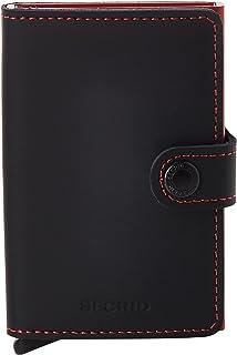 SECRID Mens Mini-wallet Matte Black & Red