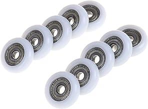 Schuifdeurrol 2/5 / 10 stuks diameter 23mm schuifdouche roller wiel plastic deurvervanging roller wiel runner Roestbestend...