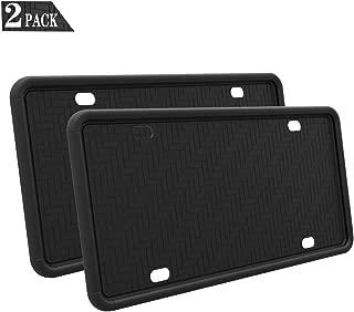 black plastic license plate holder