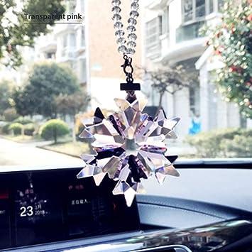 Christmas Crystal Snowflake Ornament Xmas Tree Hanging Pendant Car Decoration