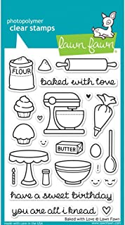 Lawn Fawn Clear Stamp - Baked With Love (LF805)