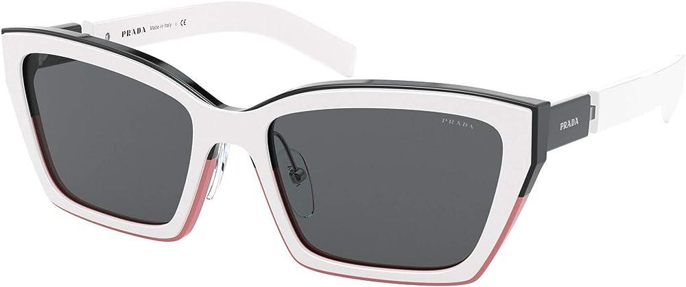 Prada, occhiali per donna da sole, montatura in acetato e lente color grigio scuro PR 14XS 01C5S0