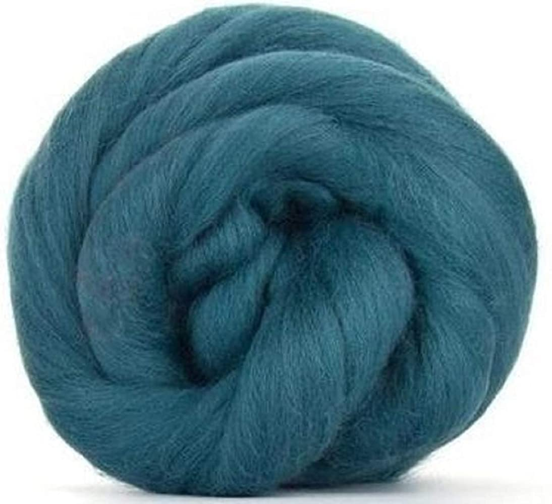 4 oz Paradise Fibers 64 Count Dyed Duck Egg (Green) Merino Top Spinning Fiber Luxuriously Soft Wool Top Roving for Spinning with Spindle or Wheel, Felting, Blending and Weaving