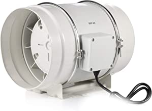 8 Inches Inline Duct Fan with Time Delay HG POWER 220V Bathroom Exhaust Fan Ventilation Fan Kitchen Ventilation IP44 for H...