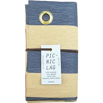 山陽製紙 レジャー シート キャンプ アウトドア ピクニック ラグ 用品 90×60cm 撥水 日本製 北欧 crep BORDER ピンク Sサイズ