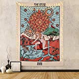 FLY SPRAY Tarot Tapestry The Star Medieval Europe Divination Tapestry Wall Hanging Mysterious Tapestries Home Decor