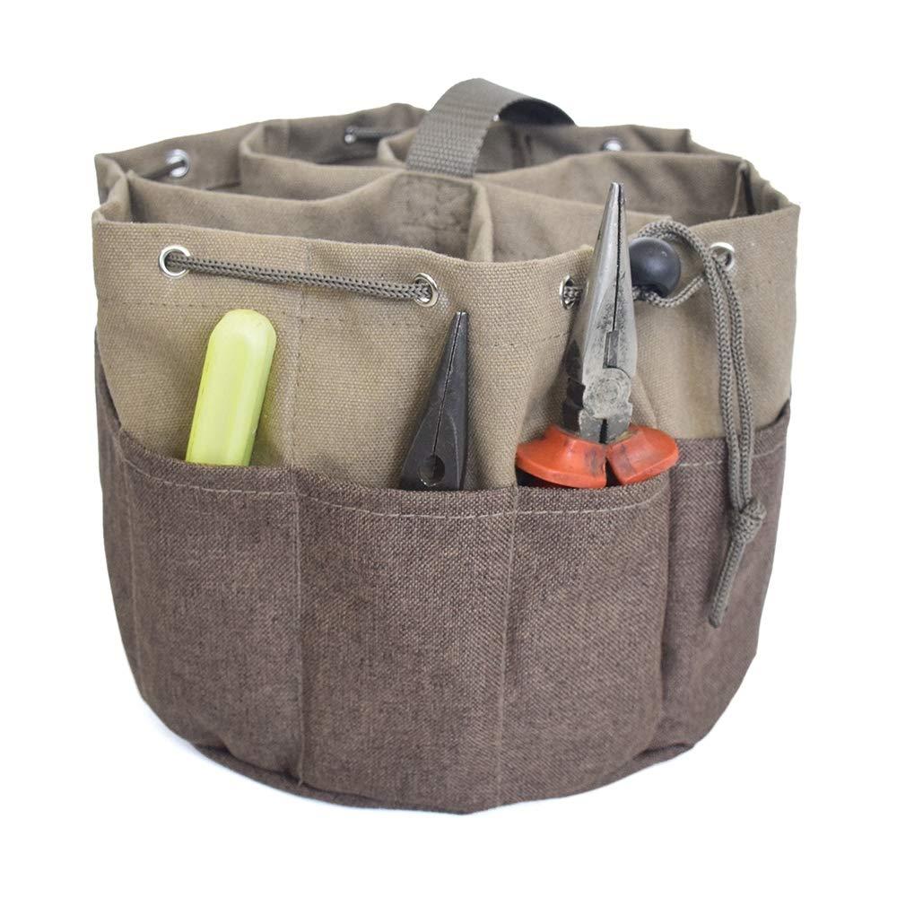 Herramientas de jardinería Tool Kit de mano Herramienta para el jardín Planta de Almacenamiento Bolsa Jardín bolsas con agua a prueba de la tela de Oxford Jardín Redondo Tipo de bolsa: Amazon.es: