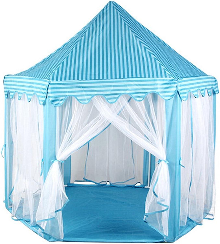 VORCOOL Hexagon Prinzessin Castle Cute Indoor Kinder spielen Zelt Outdoor Girls Playhouse (blue)