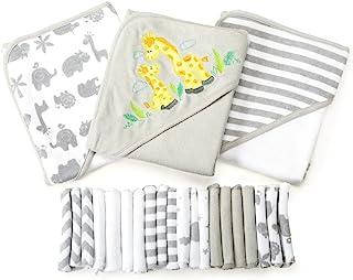اسپاسیلک مجموعه ای از هدایا حمام نوزاد 23 عیار، خاکستری